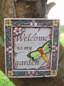 Garden Art - Welcome to my garden sign
