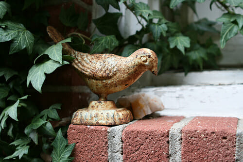 Garden art bird | The Micro Gardener