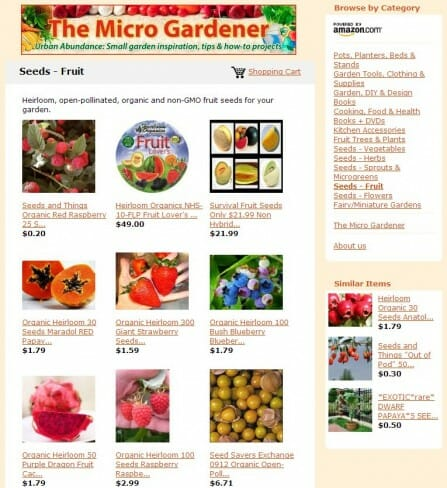 Fruit Seeds - The Micro Gardener Store