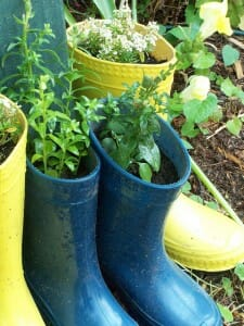 Green Gumboots - recycle boots when kids grow out