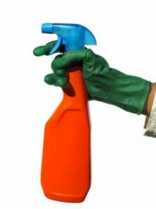 Recycled domestic spray bottle