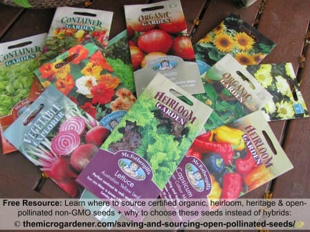 Where to source non-gmo organic open-pollinated and heirloom safe seeds
