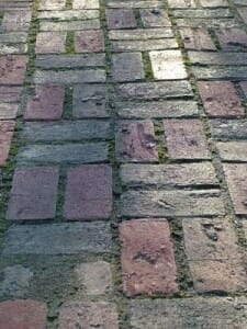 Plain pavers can be given a makeover to add colour with letters from the alphabet