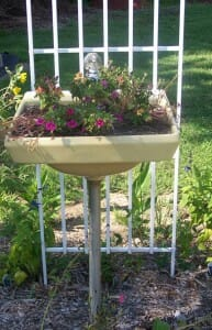 Doing a renovation?  You may find a space to reuse a basin as a garden planter.  | The Micro Gardener www.themicrogardener.com