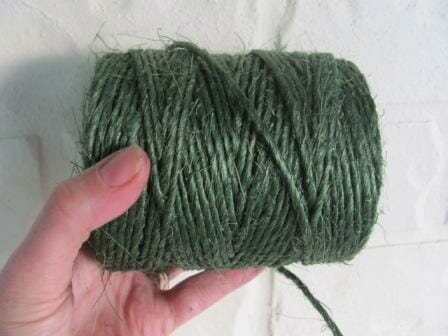 Strong green lashing twine is cheapest when purchased on a roll.