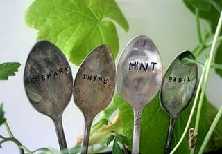 Convert your old cutlery like spoons and knives into attractive and practical long-lasting plant markers.