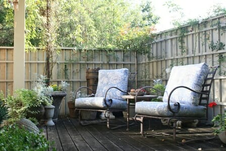A deck tucked away in a corner of the garden is a perfect place to sit and observe nature and plan new projects. Photo: Gardening in a Minute