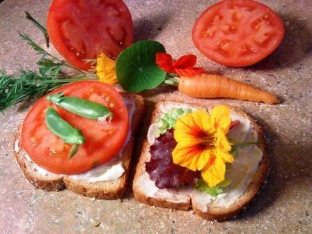Try open sandwiches with nasturtium leaves and flowers