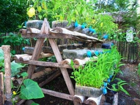 A-frame tiered garden for small spaces | The Micro Gardener