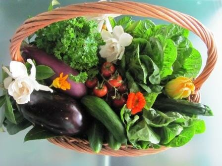 My final fragrant edible gift basket ready to go! | Photo: The Micro Gardener