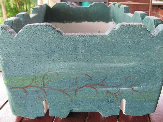 Painted polystyrene box - use non-toxic paint or leave it white.
