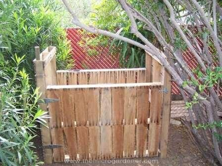 Compost bin made from repurposed pallets. | The Micro Gardener