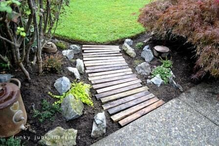 Pallet Garden Pathway | The Micro Gardener