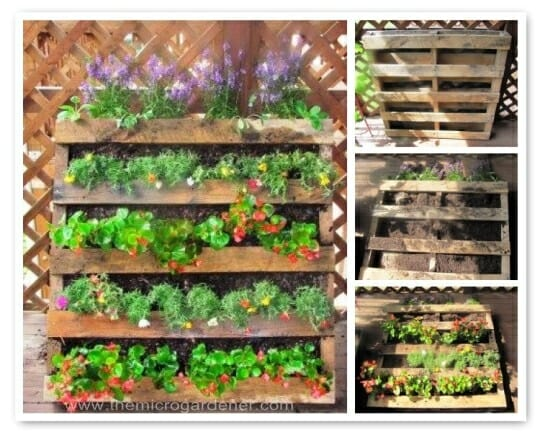 20 creative ways to upcycle pallets in your garden for Gardening using pallets
