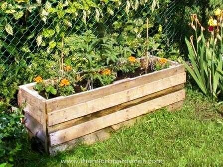 Reclaimed pallet vegetable planter | The Micro Gardener