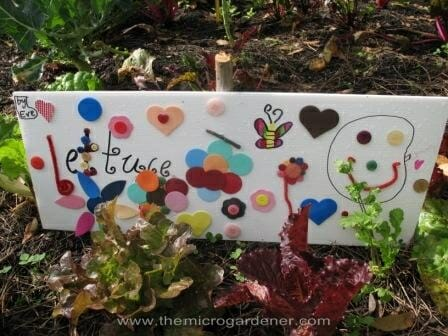 Lettuce garden sign | The Micro Gardener