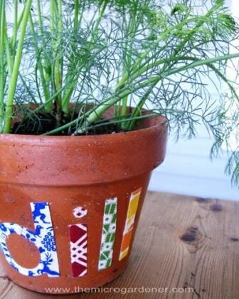 Herb garden label | The Micro Gardener