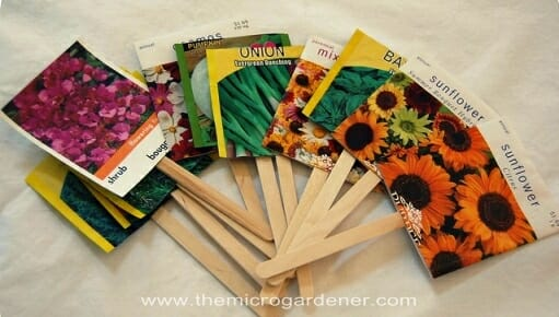 Seed packet labels | The Micro Gardener