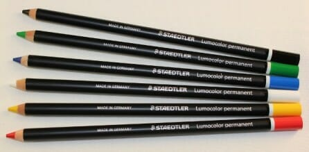 Staedler lumocolor pencils are handy to use on almost all surfaces. | The Micro Gardener