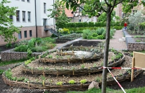 Giant herb spiral with 50m pathway. | The Micro Gardener