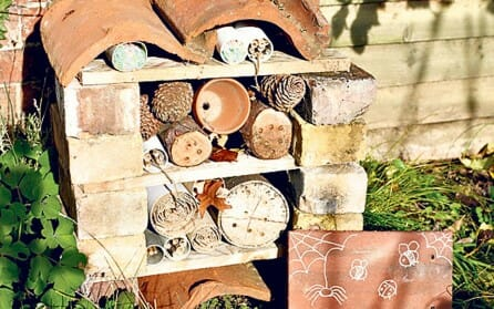 Insect hotel for beneficials | The Micro Gardener