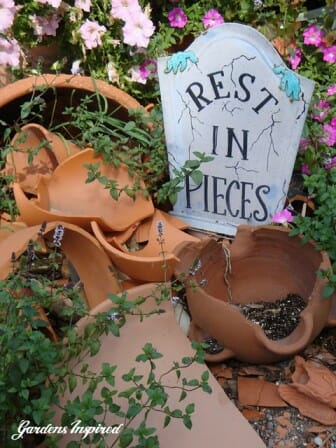 Rest in pieces pottery graveyard | The Micro Gardener