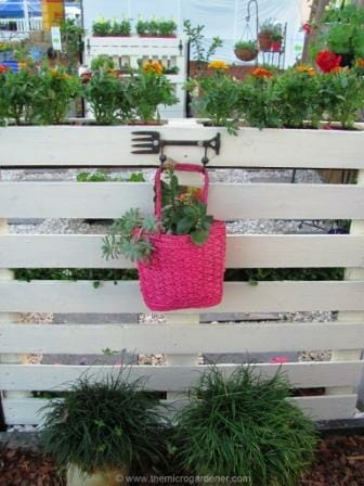 Another pallet planter I made on the other side of the balcony garden. | The Micro Gardener