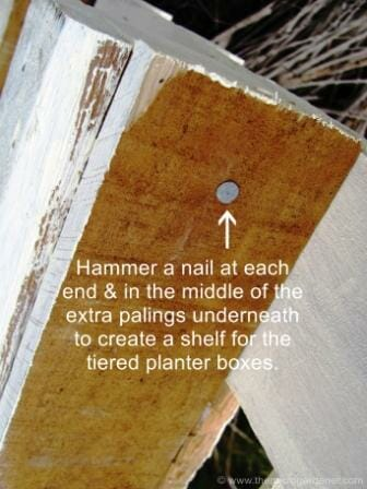 Hammer nails up underneath to secure as shelving. | The Micro Gardener