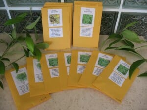 Herb Seed Packets produced by our local seed saving group