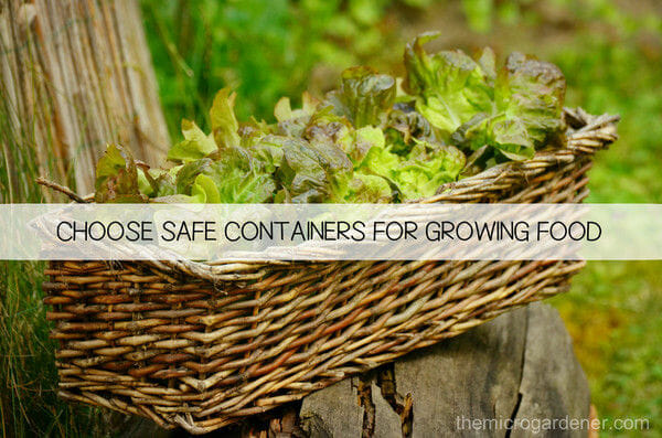 Choose Safe Containers for Growing Food Gardens