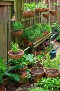 A great example of vertical gardening structures that save space