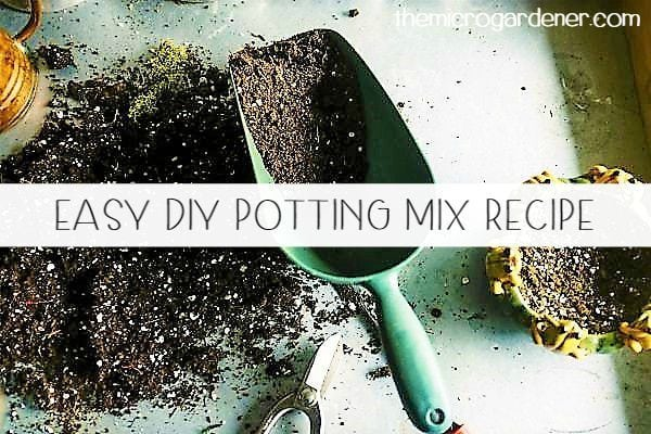 Easy DIY Potting Mix Recipe - learn how to make your own moisture holding, nutrient rich potting mix at home in simple steps.