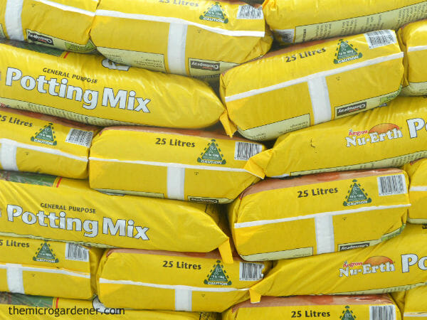 Bagged soil mixes are likely to dry out too quickly and starve your plants without the addition of other ingredients.