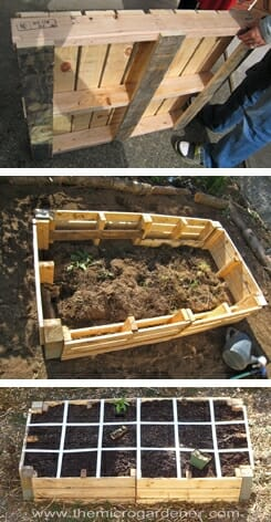 upcycle pallets into a low cost raised garden bed the micro gardener - Garden Ideas With Pallets