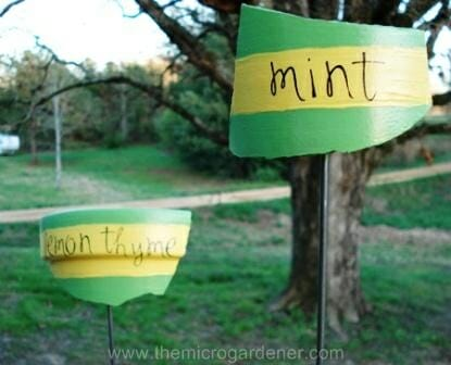 Broken pot markers | The Micro Gardener