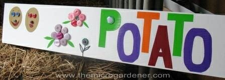 Potato sign | The Micro Gardener