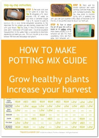 How to Make Potting Mix at Home Guide - increase your yields and grow healthy plants
