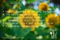 August 2017 Newsletter | The Micro Gardener