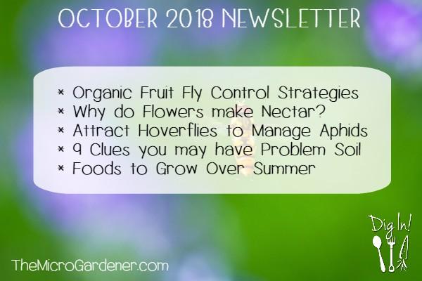 October 2018 Newsletter | The Micro Gardener