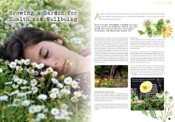 'Growing a Garden for Health and Wellbeing' p56-63, Garden Culture Magazine